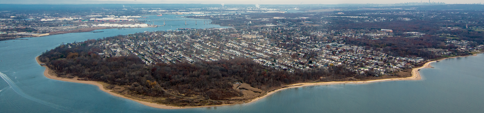 Bird's eye view of Staten Island South Shore